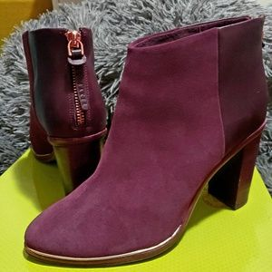 EUC Ted Baker Azaila ankle boots, burgundy suede